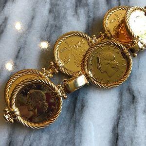 Vicenza Authentic Lire Coin Bracelet
